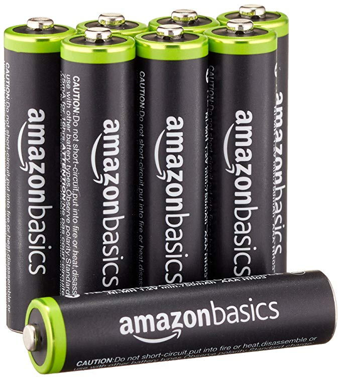 Amazon.com: AmazonBasics AAA Rechargeable Batteries (8-Pack) Pre-charged - Packaging May Vary: Home Audio & Theater